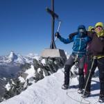 Simon e Olav in cima al Allalinhorn.