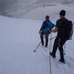 Verso il rifugio Guide Val d'Ayas.