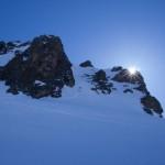 Le rocce sommitali della cima del Rimpfischhorn.