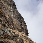 La penzolante scala Jordan sulla Testa del Leone.