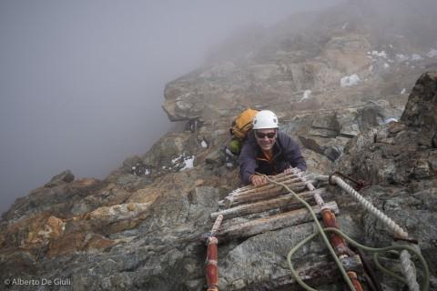 La scala Jordan. Cresta del Leone, Cervino.