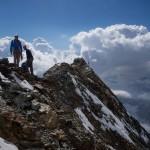 Sulla cima svizzera del Cervino.