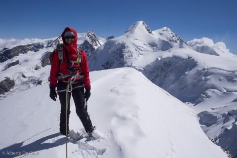 Priyanka in cima al Pollux.