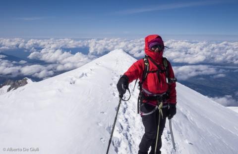 Priyanka sulla cima del Monte Bianco.