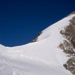 La ripida parete finale della Jungfrau.