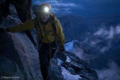 Faules Eck all'alba, Cresta dell'Hornli. Matterhorn.