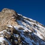 La parte finale della cresta dell'Hornli vista dalla Spalla.
