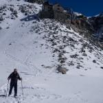 Sul Glacier des Manzettes, sotto la Cabane de la Dent Blanche.