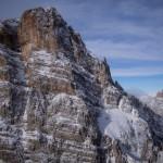 Il Monte Cristallo e Croda Rossa d'Ampezzo ( sullo sfondo a dx) dalla prima spalla della cresta sud del Popena.