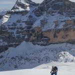 Sci alpinismo sulla Tofana di Rozes.