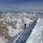 A pochi passi dalla cima della Tofana di Rozes.