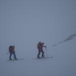 Quinto giorno. Verso il Rifugio Casati nella nebbia.