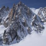Il Pilier Gervasutti. Vallé Blanche con gli sci.
