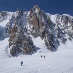 Con gli sci sulla Vallée Blanche.