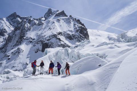 Seraccata del Gigante. Vallée Blanche con gli sci.