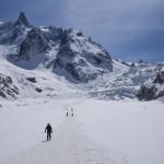 Mer de Glace. Vallée Blanche con gli sci.