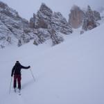 Scenario invernale,martedì scorso sul Valon Tofana.