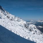 Glacier des Bosson e Aiguille du Gouter.