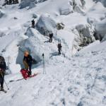 Alla fine della Jonction. Glacier des Bosson, Monte Bianco.