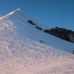 Dove fatica e stanchezza iniziano a farsi sentire. Capanna Vallot, Monte Bianco.