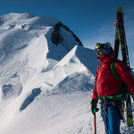 Arete des Bosses, Monte Bianco con gli sci.