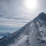 Cresta finale, Monte Bianco.
