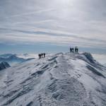 La cima del Monte Bianco.