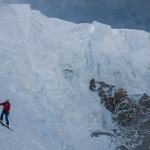 Sulla Nord del Monte Bianco con gli sci.