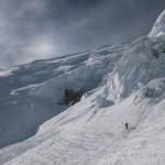 Sotto la Nord del Monte Bianco.