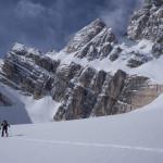 Sci alpinismo sul Ghiacciaio Superiore dell'Antelao.