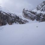 Con gli sci sul Ghiacciaio Superiore dell'Antelao.