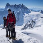 Sulla Cresta della Midi. Monte Bianco.