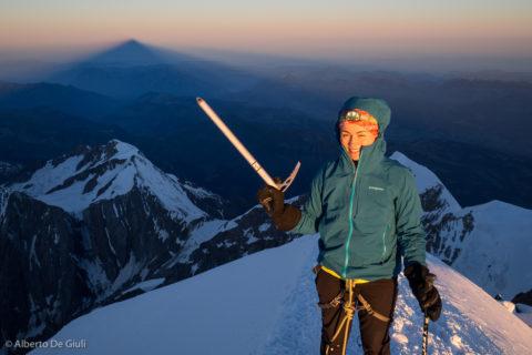 Manca poco alla vetta del Monte Bianco.