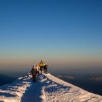 In vetta al Monte Bianco.