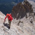Eotvos-Dimai, sulle ripide ghiaie sotto la cima della Tofana di Rozes.