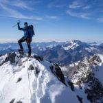 In cima al Piz Bernina. Biancograt.