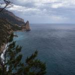 Pedra Longa vista dal sentiero in quota che parte da Santa Maria Navarrese. Selvaggio Blu, primo giorno.
