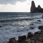 Cala Forrola, sullo sfondo la Pedra Longa. Sevaggio Blu, primo giorno.