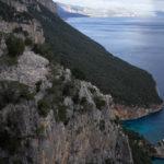 """Panorama sul bosco di Biriala, in basso la """"Scala"""" di Biriala. Selvaggio Blu."""