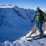 Mittelbergjoch, pronti a scendere sul ghiacciaio. Wildspitze.
