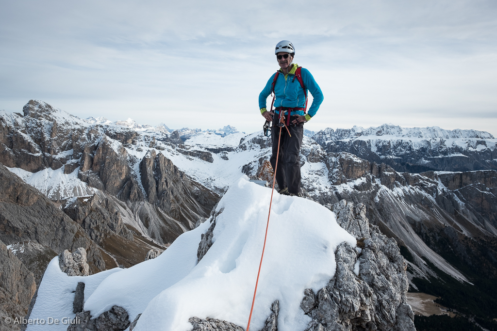 Can you go climbing in the Dolomites during the short autumn days  The  answer is Yes, if you go for those peaks with south facing walls. bac9184624c2