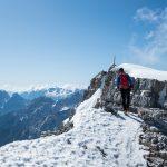 A pochi passi dalla cima della Croda Rossa d'Ampezzo.
