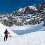 """Sci alpinismo in Val Bones, a sinistra il tracciato della """"Vecchia Comune"""""""